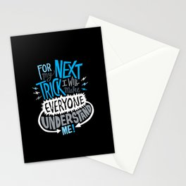 My Next Trick Stationery Cards