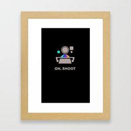 Oh Shoot 2 Framed Art Print