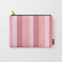 Pink Stripe Pattern Carry-All Pouch