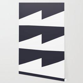 Urban Geometry Navy Blue + White Wallpaper