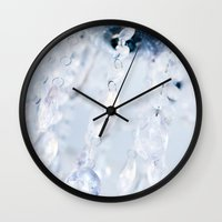 crystals Wall Clocks featuring Crystals by Mauricio Santana