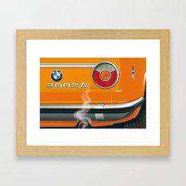 BMW 2002 ti Alpine from 1968 Framed Art Print
