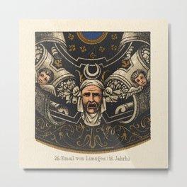 Antique Enamel Email von Limoges Lithograph Metal Print