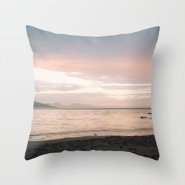 Coles Bay Sunset Seagull Throw Pillow