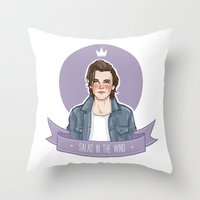 louis tomlinson Throw Pillows featuring Louis Tomlinson  by vulcains