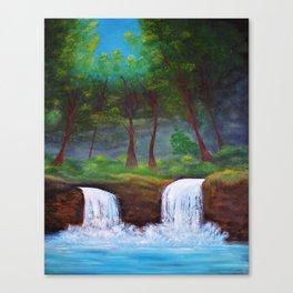 Twin Falls Canvas Print