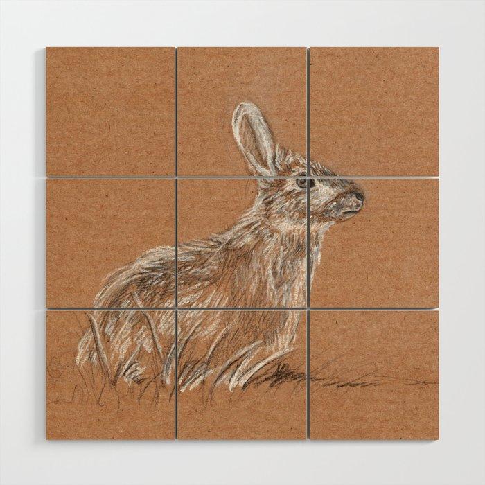 Easter bunny Wood Wall Art