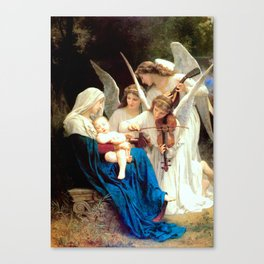 Madonna with Infant Jesus and Angels Virgin Mary Art Canvas Print