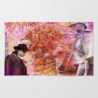 moriarty Area & Throw Rugs featuring Sherlock  VS  Moriarty by Ganech joe
