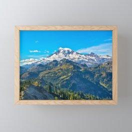 Mt. Rainer Framed Mini Art Print