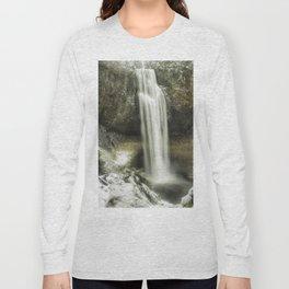 Salt Creek Falls on a Winter's Day Long Sleeve T-shirt