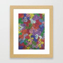 Rainbow Madness Framed Art Print