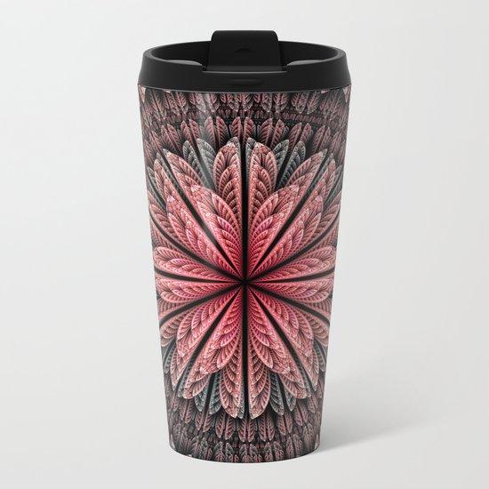 Fantasy flower and petals Metal Travel Mug