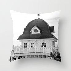 Beach Hut (II) Throw Pillow