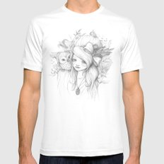 These Seasons Will Change Mens Fitted Tee MEDIUM White