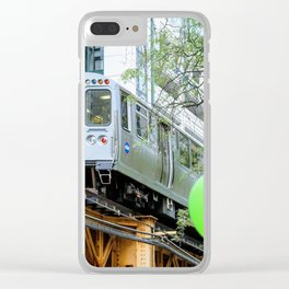 Chicago midway train Clear iPhone Case