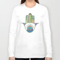 hamsa Long Sleeve T-shirts featuring HAMSA by Heaven7