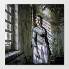 Girl by the window Canvas Print