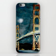 Golden Gate Bridge at Night iPhone & iPod Skin