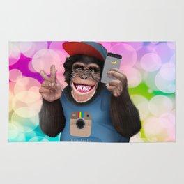Selfie monkey Rug