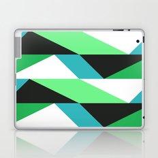 Turquoise, black & green triangles pattern Laptop & iPad Skin