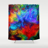 acid Shower Curtains featuring Acid by JT Digital Art