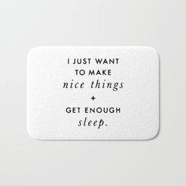 I just want to make nice things Bath Mat