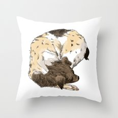Sleeping Dog #002 Throw Pillow