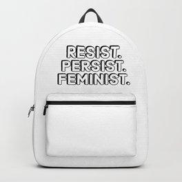 Resist. Persist. Feminist. Backpack