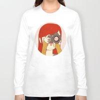 nan lawson Long Sleeve T-shirts featuring Behind The Lens by Nan Lawson