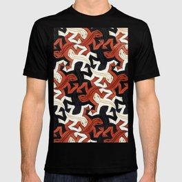 Escher lizard T-shirt