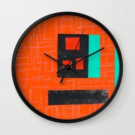 That London Door- Orange Wall Clock