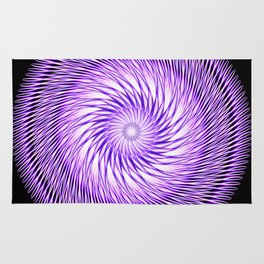 Spiral Illusion Mandala Rug
