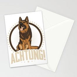 Animal Owners Dog Trainers Doggie Pets German Shepherd Achtung Gift Stationery Cards