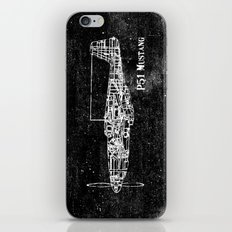North American P51 Mustang (White) iPhone & iPod Skin