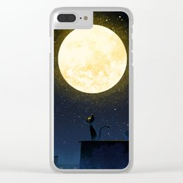 Big Moon Clear iPhone Case