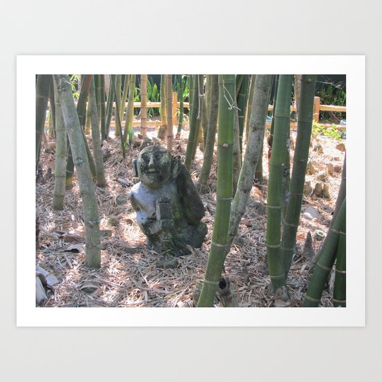 Buddha in the Woods Art Print
