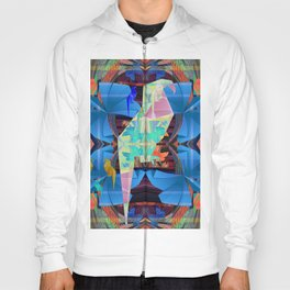 Origami Parrot Butterfly Tribal Tropical Floral Hoody