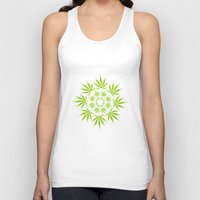 cannabis Tank Tops featuring Cannabis Leaf Circle (White) by Thisisnotme