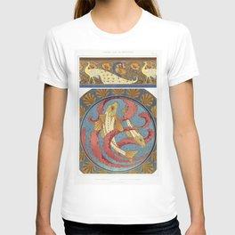 Paons et pavots bordure Grondins algues et coquilles plat en email cloisonne from Lanimal dans la de T-shirt
