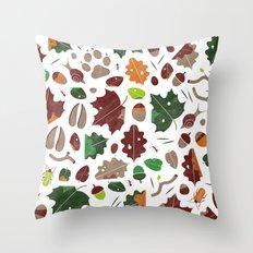 Forest floor tile pattern Throw Pillow