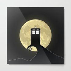 Nightmare Before A Tardis Metal Print