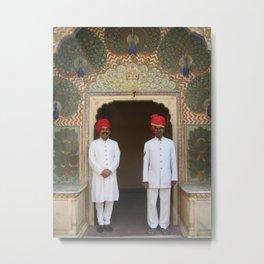 Men in Nehru Jackets in Jaipur, India (2004) Metal Print