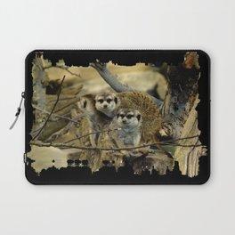 African Meerkat Trio Laptop Sleeve