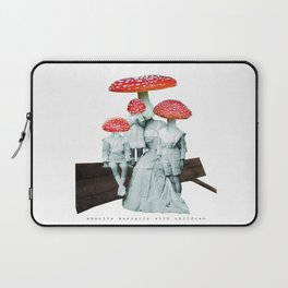 amanita muscaria with children Laptop Sleeve
