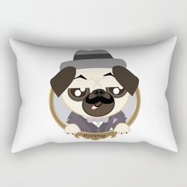 Great Detective Poirpug. Poirot the Pug Rectangular Pillow