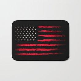 American flag Vintage Black Bath Mat