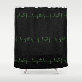 Konohagakure Heartbeat Shower Curtain