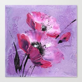 Pavot mauve Canvas Print