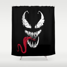 Symbiote Shower Curtain